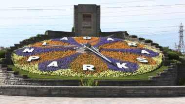 The floral clock, Niagara Falls, Ontario, Canada — Wideo stockowe