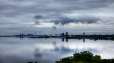 A timelapse view of a beautiful harbour view — Video Stock