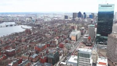 An open aerial view of the city of Boston, Massachusetts — Stock Video