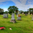 Timelapse view in a cemetary with blue skies — Stock Video #51132587