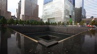 A view of the 911 Memorial, Manhattan — Stock Video