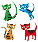 Set of cats — Stock Photo