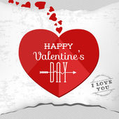 Valentine's Day Greeting Template — Vettoriale Stock