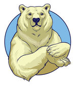 White bear — Stock Vector