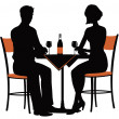 Romantic dinner for two — Stock Vector #46696919