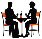 Romantic dinner for two — Stock Vector