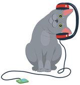 Cat music headphones — Stock Vector