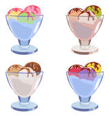 Set of different tasty ice cream — ストックベクタ