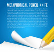 Abstract vector background metaphorical pencil knife — Stock Vector #40297893
