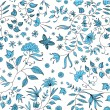 Floral seamless pattern vector — Stock Vector