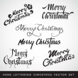 Hand lettering Christmas vector set — Stock Vector