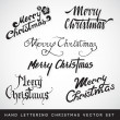 Stock Vector: Hand lettering Christmas vector set