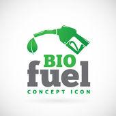 Ícone de símbolo do bio combustível vetor — Vetor de Stock