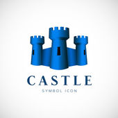 Castle towers vector symbol icon — Stock Vector