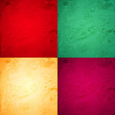 Christmas textures vector background set — Stock Vector