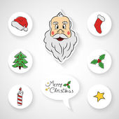 Hand drawn Christmas sale icon set — Stock Vector