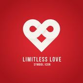 Limitless love symbol — Stock Vector