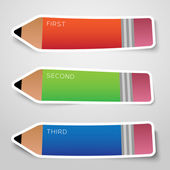Vector colorful pencil stickers — Stock Vector