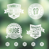 Summer sale vintage badges set — Stock Vector