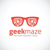 Geek Maze Vector Concept Symbol Icon — Stockvektor