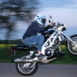 Motorbiker ride on rear whee — Stock Photo #40435461