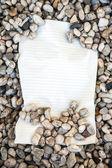 Perchment with rhinestones — Stock Photo