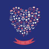 Valentinstagskarte. — Stockvektor
