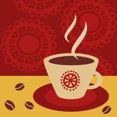 чашка горячего напитка (кофе, чай и т.д) — Cтоковый вектор