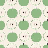 бесшовный фон с яблоками на белом фоне — Cтоковый вектор