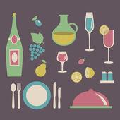 Food, restaurant, menu design — Stock Vector