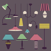 Set of icons for living room — Vettoriale Stock