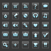 Set of web buttons — Stock Vector
