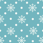 Seamless snowflakes background — Vetor de Stock