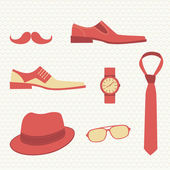 Vintage fashion set - men's accessories — Stock Vector