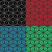 Set of four geometric seamless patterns — Vector de stock