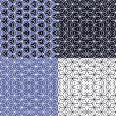 Set of four geometric seamless patterns — Stok Vektör