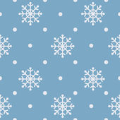 Seamless snowflakes background for winter theme — Stock Vector