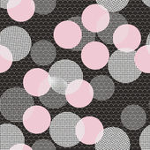 Seamless pattern with pink and white balls — Stock Vector
