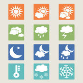 Set of weather icons. — Stock Vector