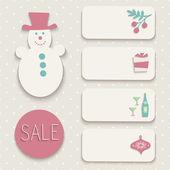 Set of Christmas icons. — Stock Vector
