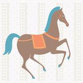 Retro circus horse. — Stock Vector