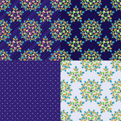 Floral stylish backgrounds. — Vector de stock