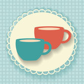 Two cups. — Stock Vector
