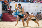 Hong Kong, China - March 22-23 2014: The Beach 5's 2014 is the fourth year running and become a staple of Hong Kong's annual sporting landscape. The event is free of charge and family friendly. — Foto Stock