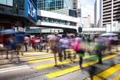 Pedestrians in Central of Hong Kong — Stock Photo