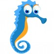 Seahorse cartoon — Stock Vector #41042411
