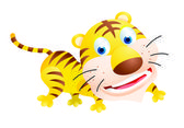 Tiger cartoon — Stock Vector