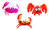 Crabs cartoon — Stock Vector