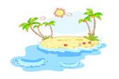 Landscape on the beach — Stock Vector