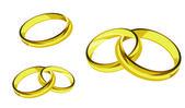 Rings gold ring illustration — Stock Vector